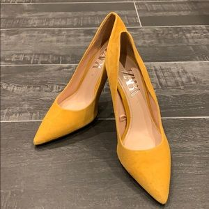 Zara Yellow Heels, Size 37